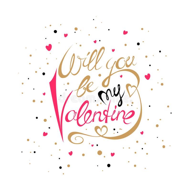Download Will You Be My Valentine Card Stock Vector   Image: 83447163