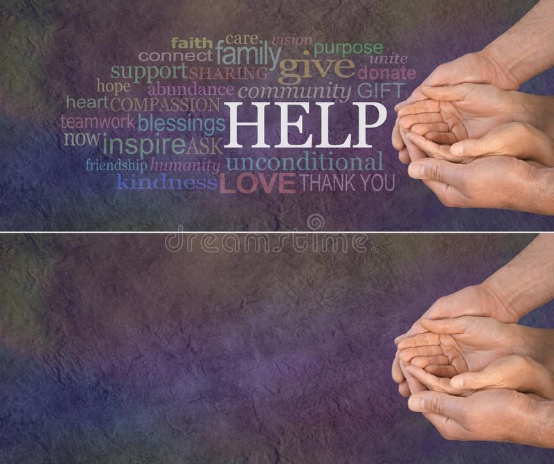 Will you help us with our cause please royalty free stock images