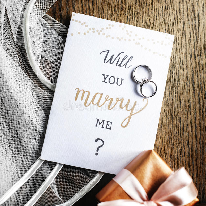 Will You marry Me Proposing Card Marriage stock image