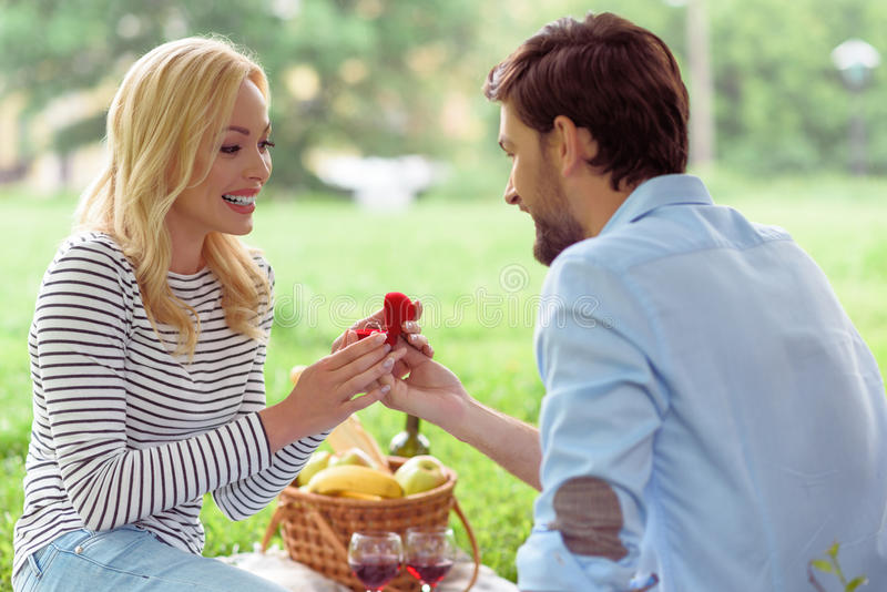 Will you marry me stock photo