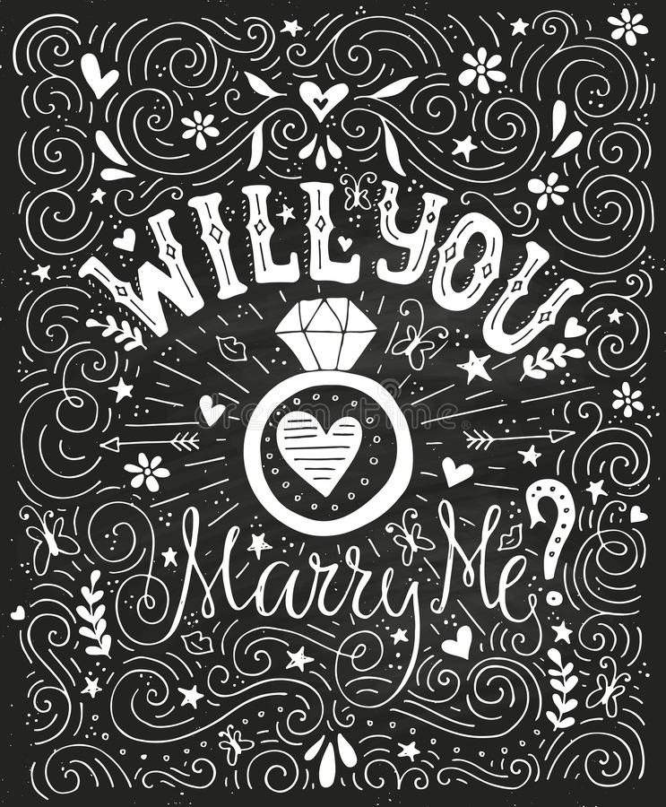 Will You Marry Me Stock Vector Illustration Of Gorgeous 66003675