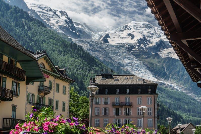 Willa de Chamonix w Francja obraz royalty free