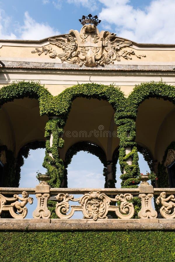 Willa Del Balbianello, jeziorny como, Włochy fotografia royalty free