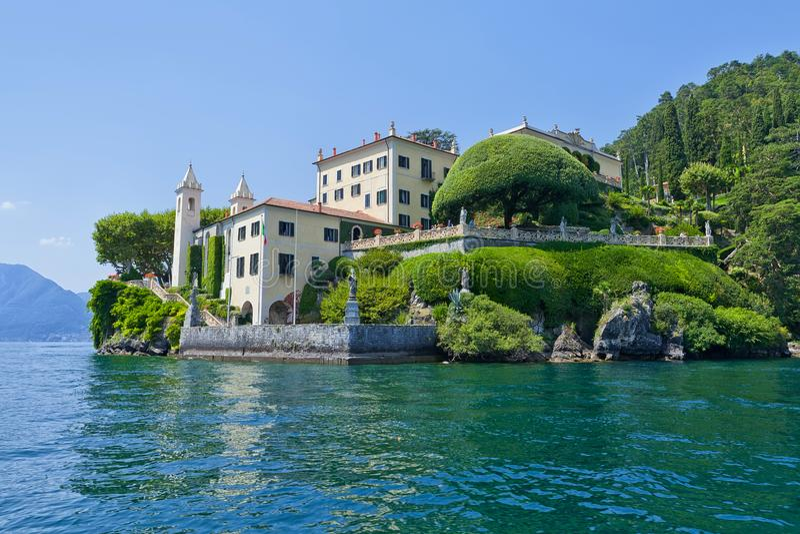 Willa Del Balbianello na Jeziornym Como, Lenno, Lombardia, Włochy obraz stock