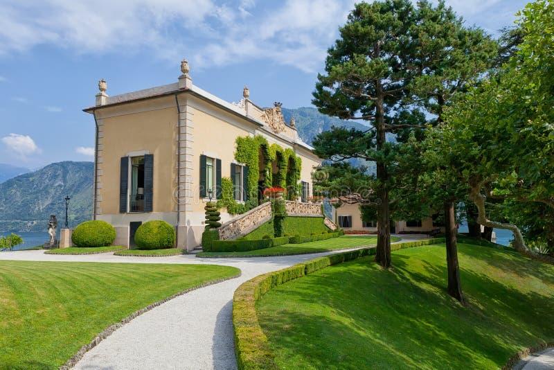 Willa Del Balbianello na Jeziornym Como, Lenno, Lombardia, Włochy zdjęcie royalty free