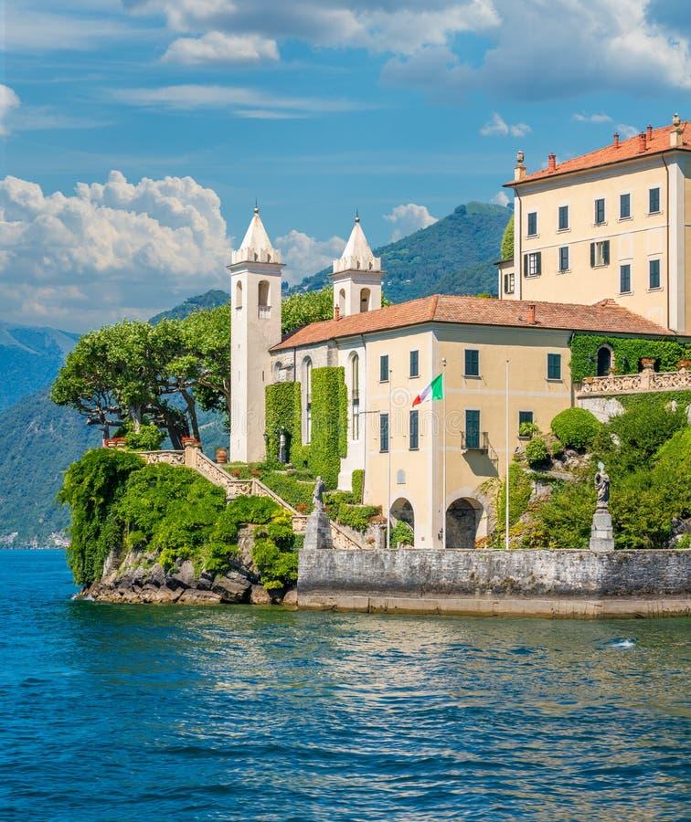 Willa Del Balbianello, sławna willa w comune Lenno, przegapia Jeziornego Como italy Lombardy obrazy stock