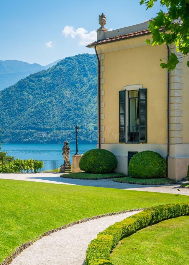 Willa Del Balbianello, sławna willa w comune Lenno, przegapia Jeziornego Como italy Lombardy fotografia royalty free