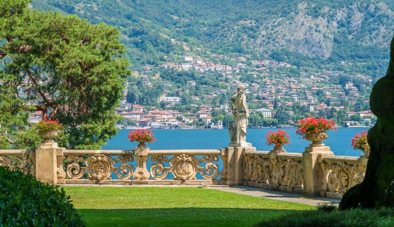 Willa Del Balbianello, sławna willa w comune Lenno, przegapia Jeziornego Como italy Lombardy zdjęcia stock