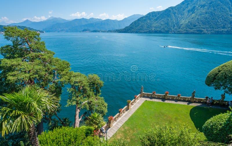 Willa Del Balbianello, sławna willa w comune Lenno, przegapia Jeziornego Como italy Lombardy zdjęcie stock