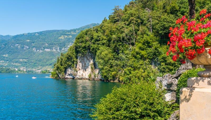 Willa Del Balbianello, s?awna willa w comune Lenno, przegapia Jeziornego Como italy Lombardy zdjęcie royalty free