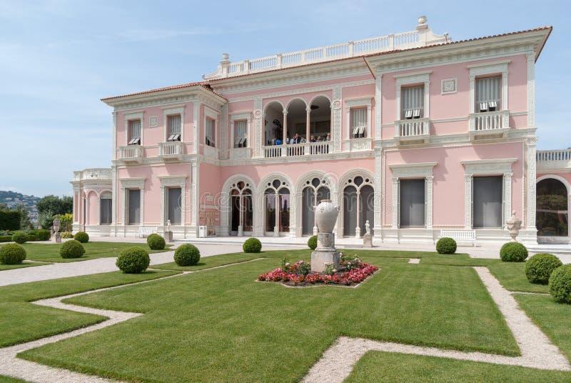 Willa Ephrussi De Rothschild, Francuski Riviera obrazy royalty free
