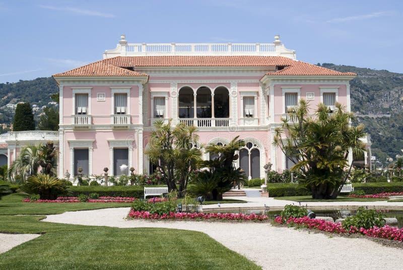 Willa Ephrussi De Rothschild, Francuski Riviera zdjęcie royalty free