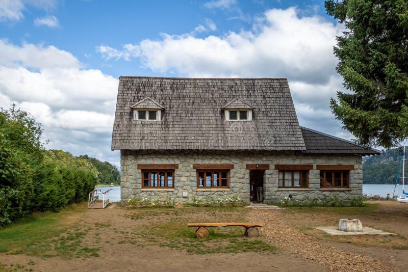 Willa losu angeles angostury Miejski muzeum - willa losu angeles angostura, Patagonia, Argentyna obraz stock