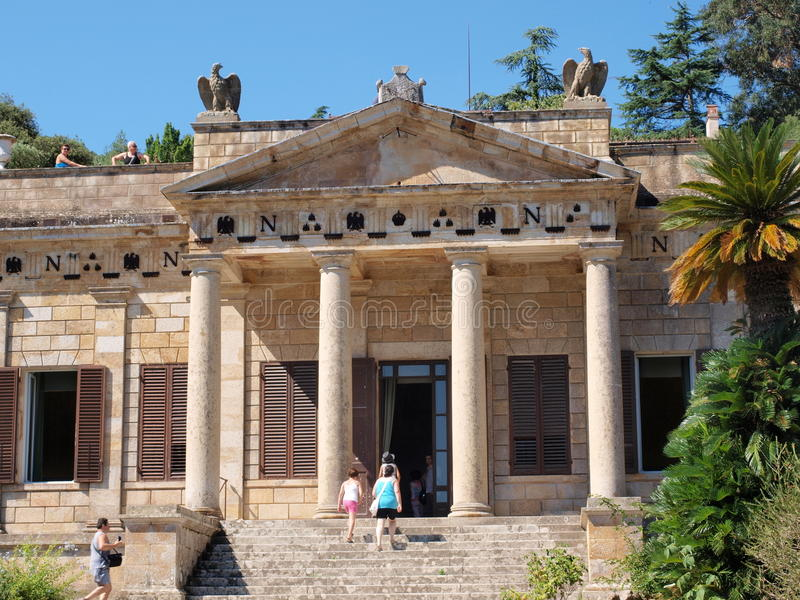 Willa San Martino, San Martino, Elba, Włochy zdjęcie royalty free