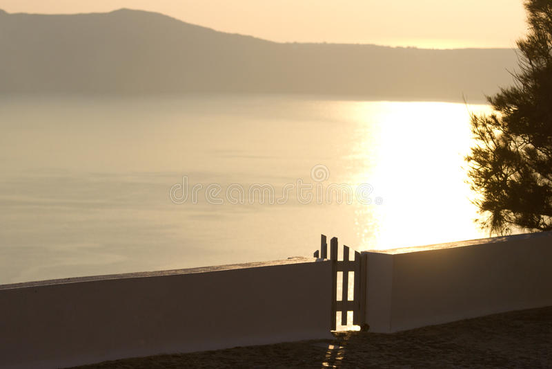 Willa w Firostefani, Santorini fotografia stock