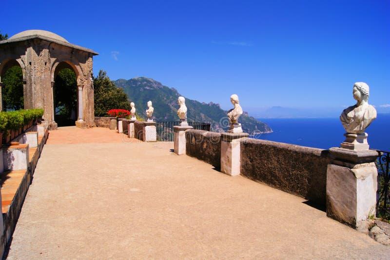 Willa wzdłuż Amalfi Wybrzeża zdjęcia royalty free