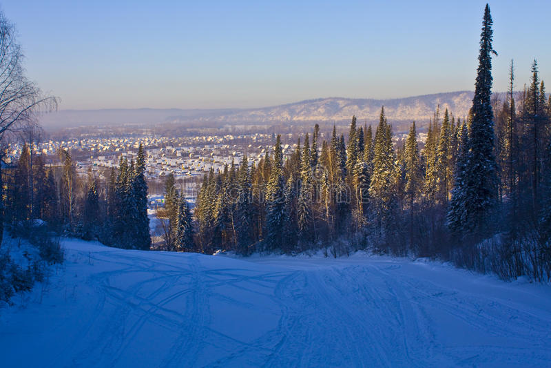Willage en Siberia del oeste imágenes de archivo libres de regalías