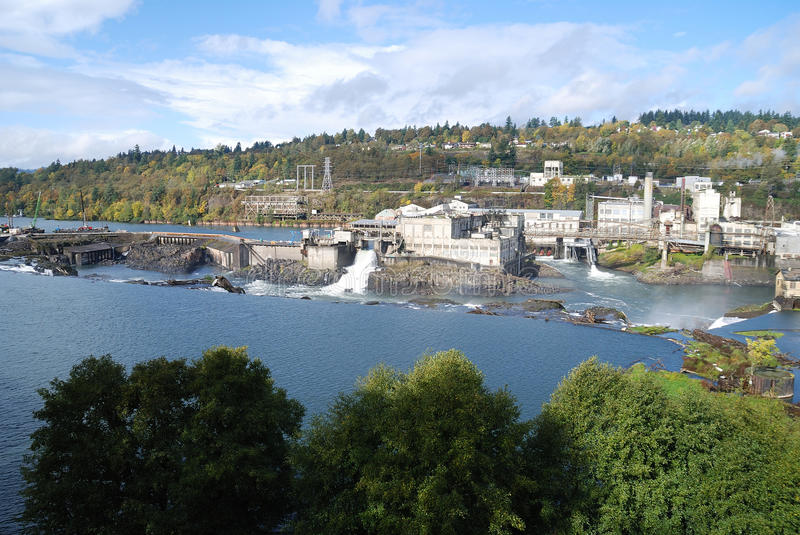 Download Willamette Falls stock image. Image of tower, reflections - 25483793