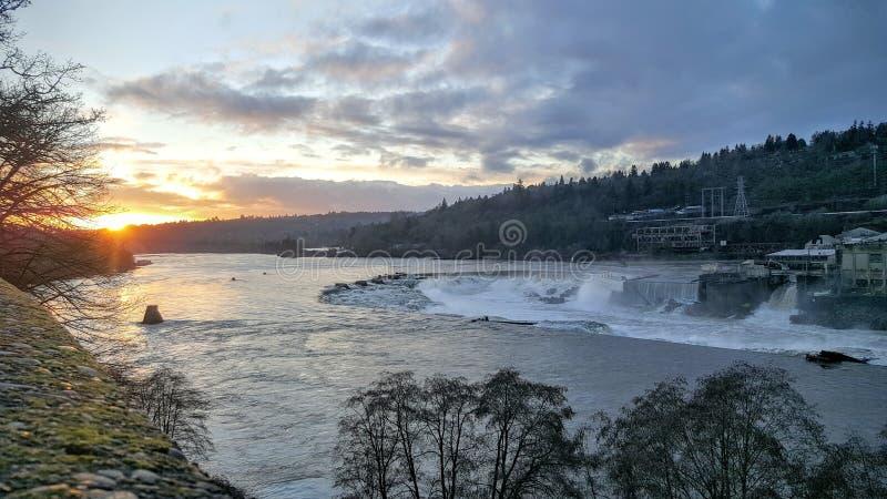 Willamette nedgångar, Oregon stad arkivbild
