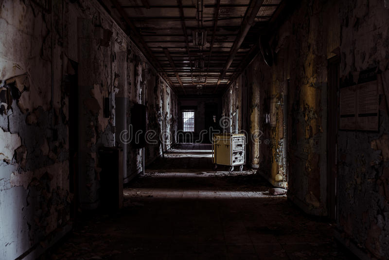 Willard Asylum per l'insano/ospedale statale - Willard, New York immagine stock