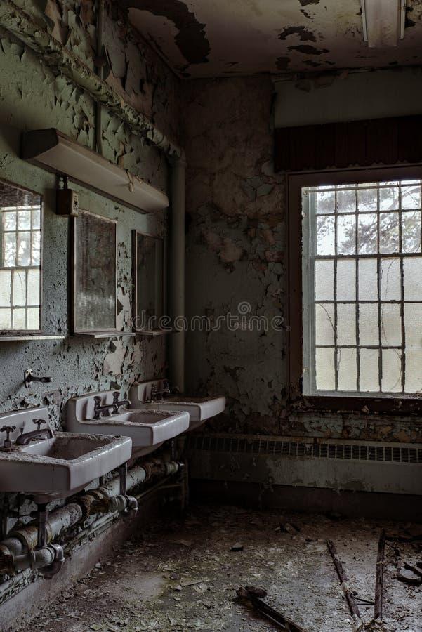 Willard Asylum per l'insano/ospedale statale - Willard, New York immagini stock libere da diritti