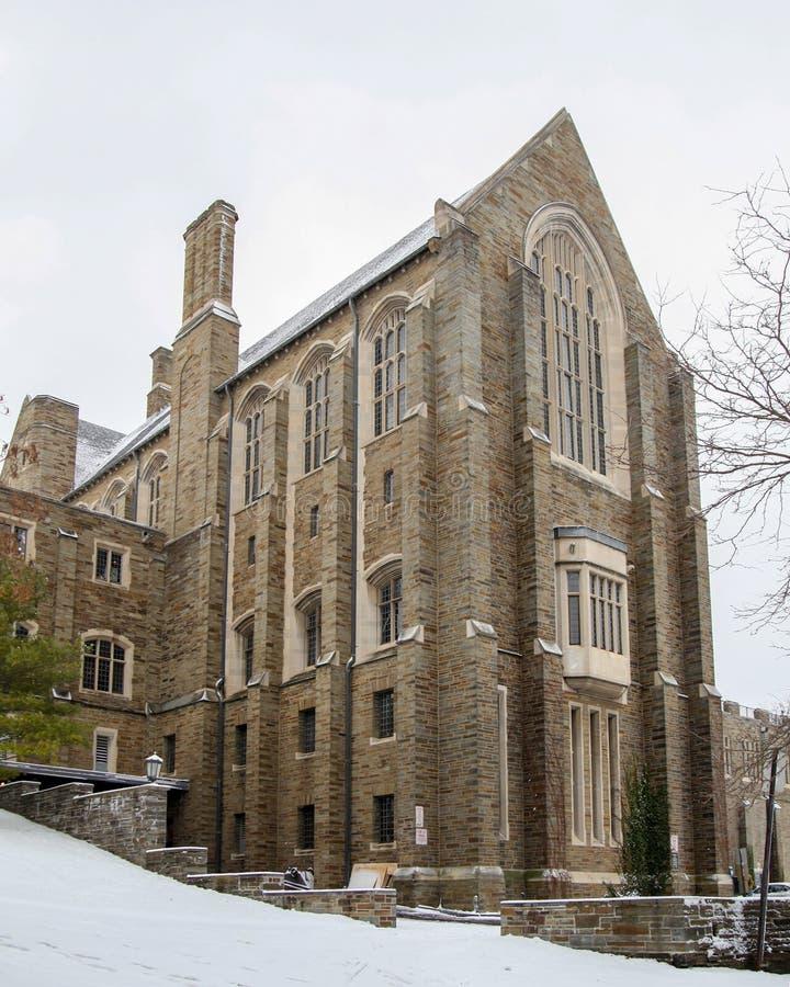 Willard Strait Hall no terreno de Universidade de Cornell imagem de stock royalty free