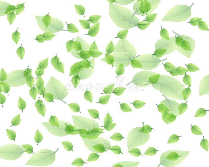 Willekeurig bladpatroon vector illustratie