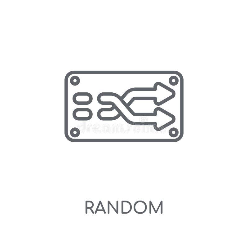Willekeurig lineair pictogram Het moderne concept van het overzichts Willekeurige embleem op wit stock illustratie