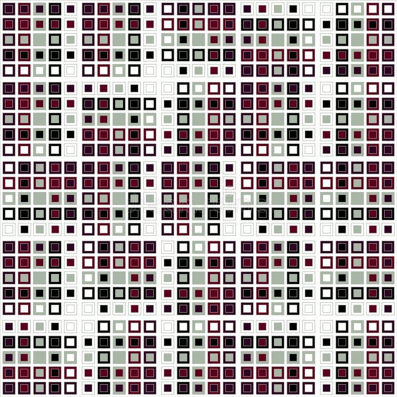Willekeurige bevolen vierkanten stock illustratie