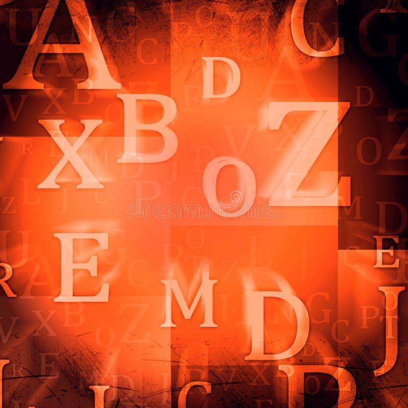 Willekeurige brieven vector illustratie