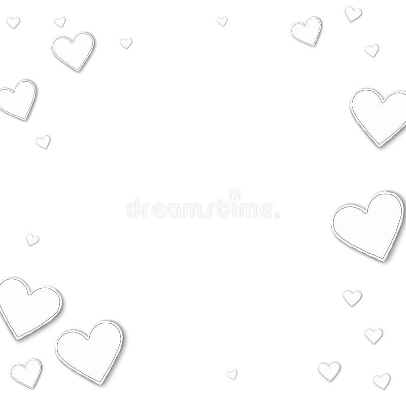 Willekeurige document harten stock illustratie