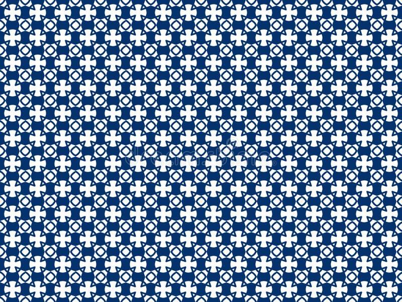 Willekeurige gekleurde geometrische cijfers aangaande een naadloos patroon stock illustratie
