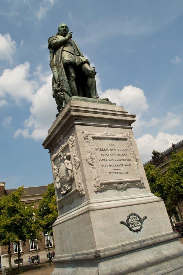 Willem Van Oranje statue stock image