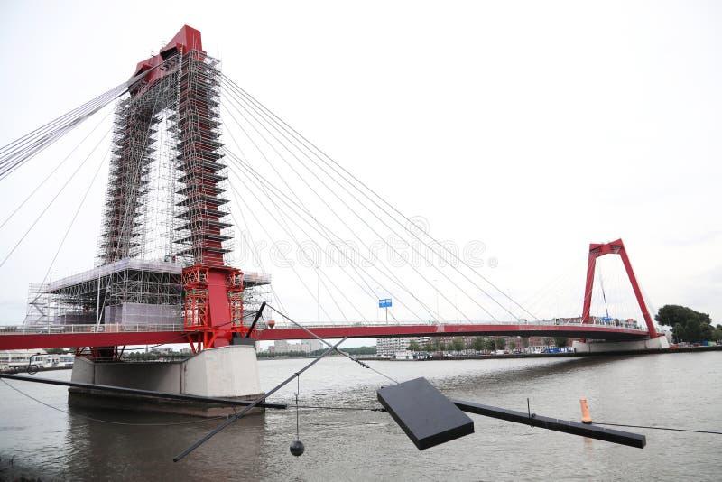 Willemsbrug en Rotterdam, Países Bajos Puente del ` s de Guillermo foto de archivo libre de regalías
