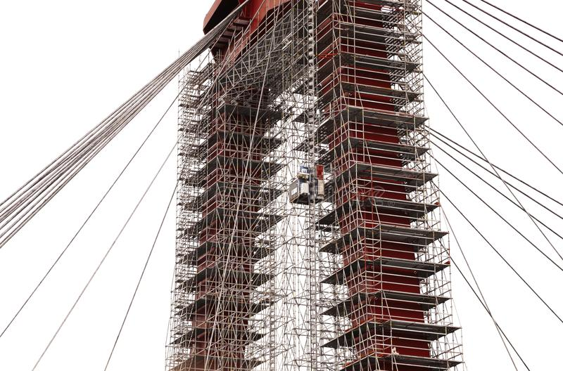 Willemsbrug en Rotterdam, Países Bajos Puente del ` s de Guillermo imágenes de archivo libres de regalías