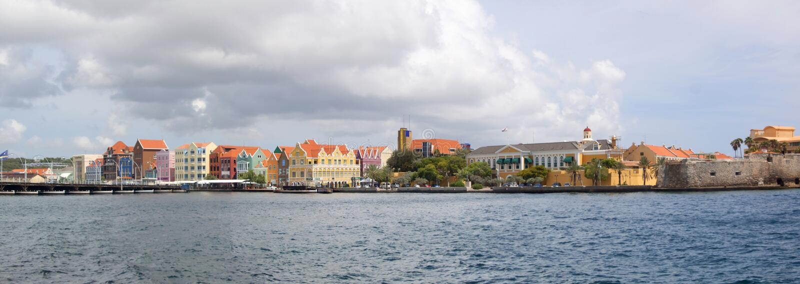 Willemstad,库拉索岛 库存图片