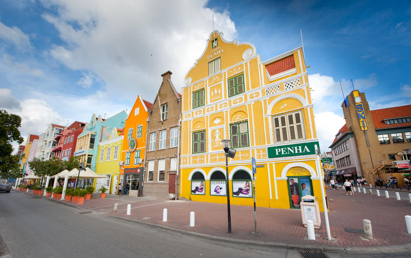 Willemstad. Is the capital city of Curaçao, an island in the southern Caribbean Sea that forms a constituent country of the Kingdom of the Netherlands. The stock image