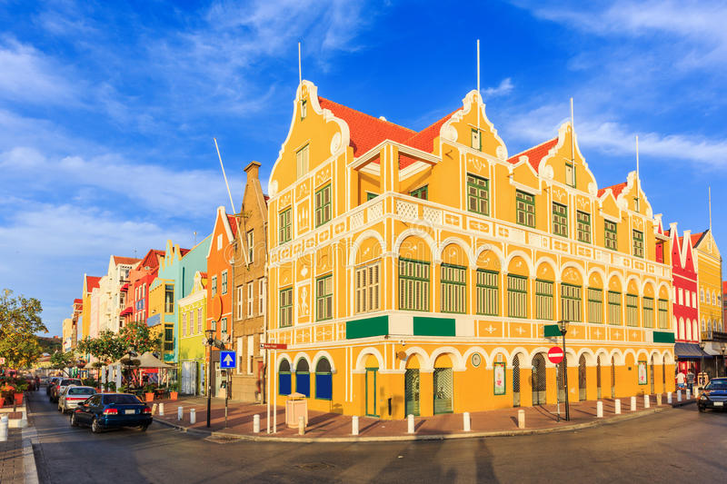 Willemstad. Curacao, Netherlands Antilles. Colonial houses in Willemstad. Curacao, Netherlands Antilles stock photography
