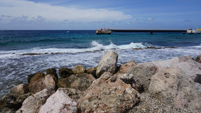 Willemstad - el Caribe - Curaçao imagenes de archivo