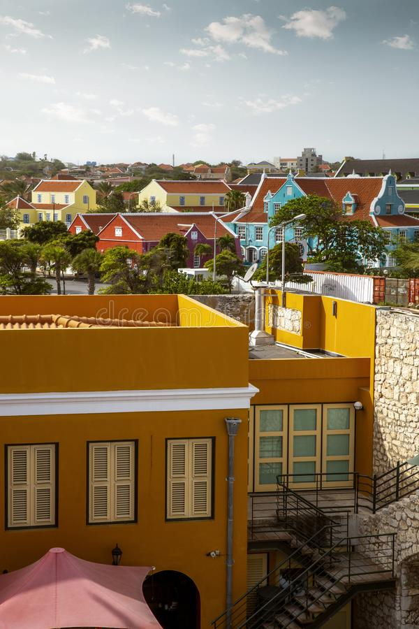 Willemstad stad i Curacao royaltyfria foton
