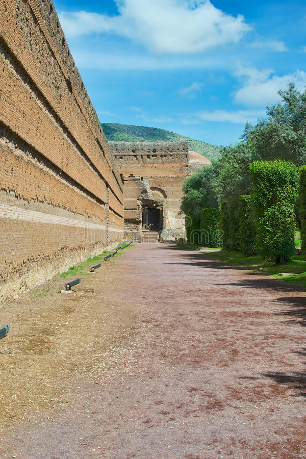 Willi Di Adriano ruiny w Tivoli zdjęcie stock