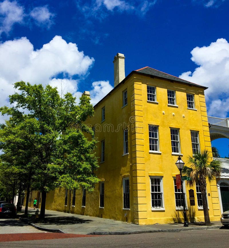 William Aiken House, Charleston, SC. Historic William Aiken House on King Street, in Charleston, South Carolina royalty free stock photo