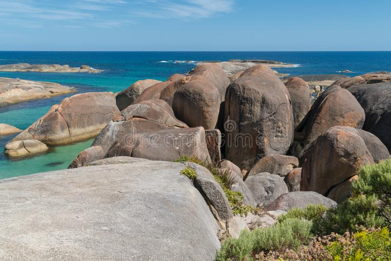 William Bay NP, Western Australia. Impressing coastal landscape of the William Bay National Park, Western Australia royalty free stock photos
