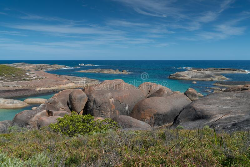 William Bay NP, Western Australia. Impressing coastal landscape of the William Bay National Park, Western Australia stock photo