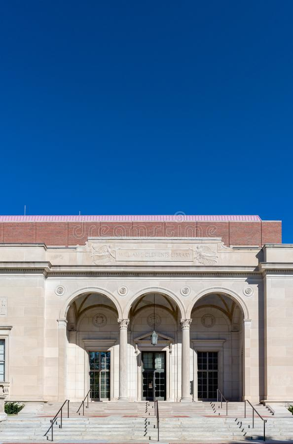 William Clements Library bij Universiteit van Michigan royalty-vrije stock foto