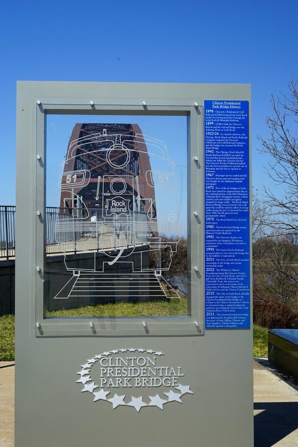 William Clinton Presidential Park Bridge images stock