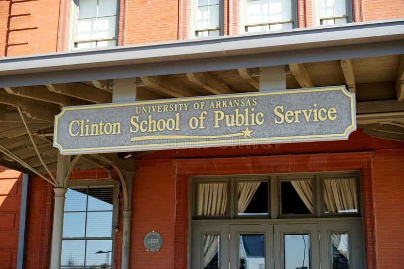 William Clinton School of Public Service. The William Jefferson Clinton School of Public Service is a division of the University of Arkansas. It is located in royalty free stock photo