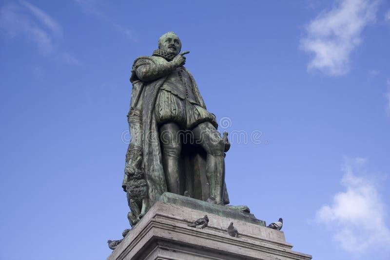 William der orange Statue lizenzfreie stockfotos
