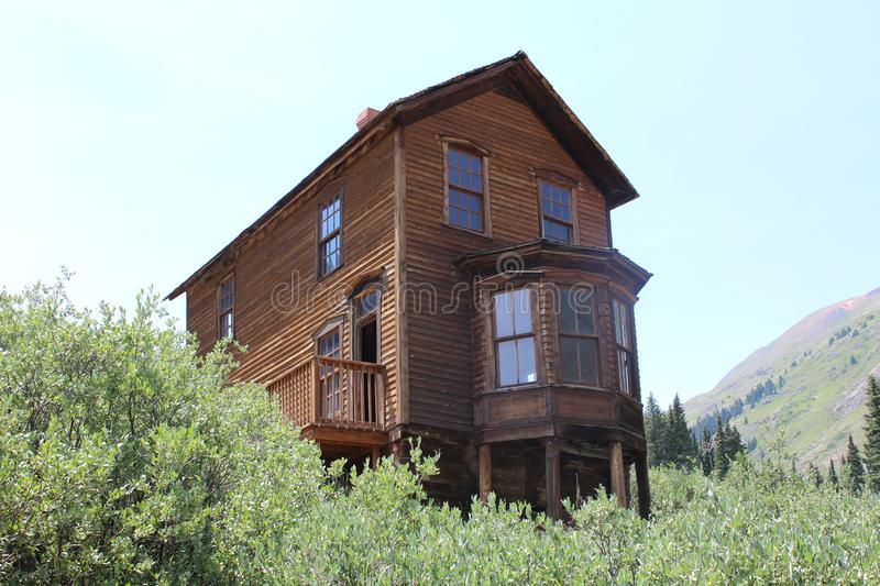 The William Duncan House in Animas Forks. Old house in the historic old mining ghost town of Animas Forks, Colorado, deep in the heart of the San Juan Mountains royalty free stock photos