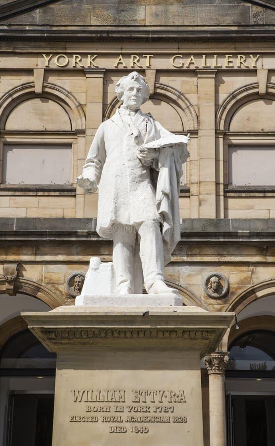 William Etty Statue en la York Art Gallery fotos de archivo